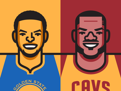 NBA Finals cavs vector illustration cleveland cavaliers golden state warriors basketball lebron james steph curry finals nba