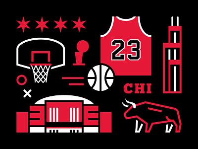 Chicago Basketball basketball windy city vector illustration united center michael jordan chicago bulls bulls chicago