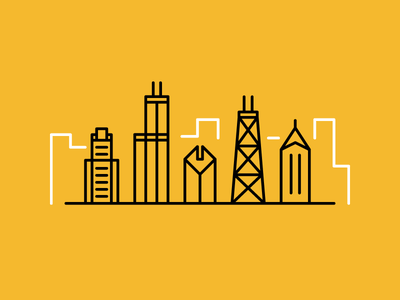 Chicago illustration vector windy city chicago