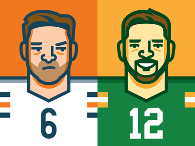 Happy Thanksgiving football illustration nfl vector wisconsin aaron rodgers packers green bay chicago jay cutler bears chicago bears