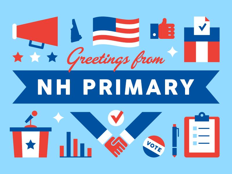 New Hampshire Postcard vector illustration postcard politics new hampshire