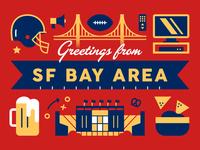 Super Bowl Postcard