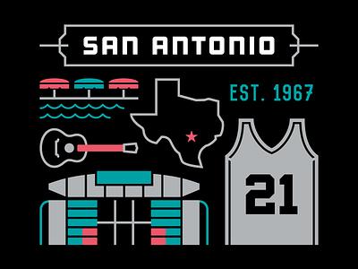 San Antonio Basketball tim duncan vector illustration spurs texas san antonio nba basketball