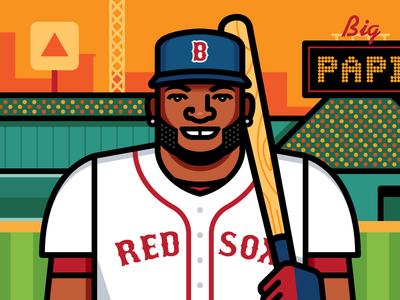 David Ortiz portrait vector illustration big papi david ortiz sports mlb baseball boston red sox