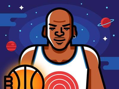 Space Jam sports vector illustration chicago bulls mj air jordan michael jordan space jam