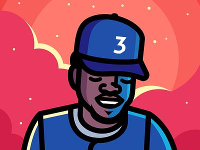 Coloring Book portrait music rap hip hop chance the rapper