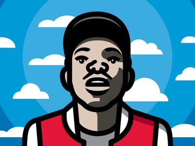 10 Day vector illustration chicago portrait music rap hip hop chance the rapper