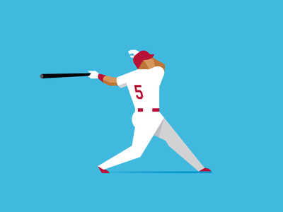 The Machine vector home run sports mlb albert pujols