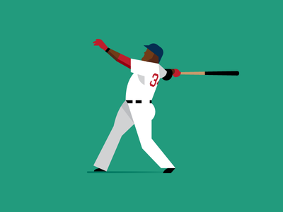 Big Papi baseball vector sports mlb home run boston red sox big papi david ortiz