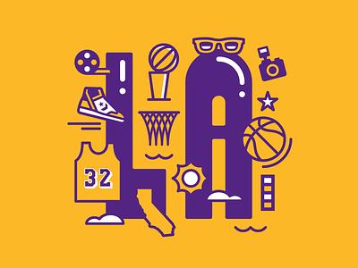Los Angeles Basketball basketball nba kobe bryant lakers magic johnson los angeles la