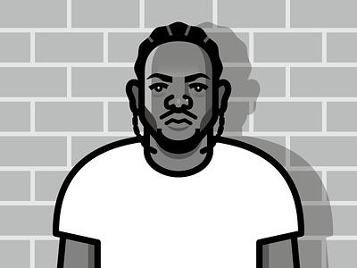 Kendrick Lamar vector portrait hip hop rap kendrick lamar