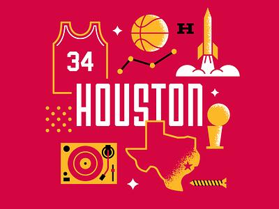 Houston Basketball clutch city hakeem olajuwon hip hop chopped and screwed rockets hurricane harvey houston