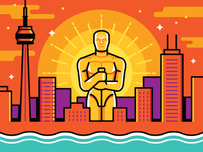 Toronto Film Festival awards season oscars editorial illustration variety magazine toronto film festival