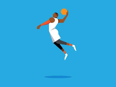 Westbrook basketball slam dunk nba russell westbrook okc thunder oklahoma city