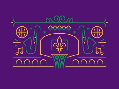New Orleans Basketball Mardi Gras