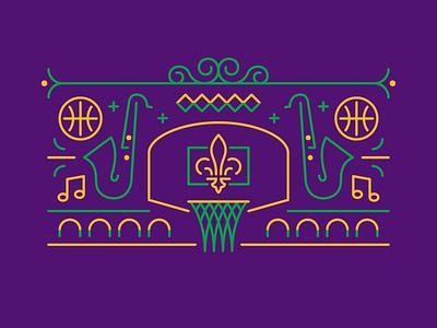 New Orleans Basketball Mardi Gras basketball cities nba basketball mardi gras pelicans new orleans