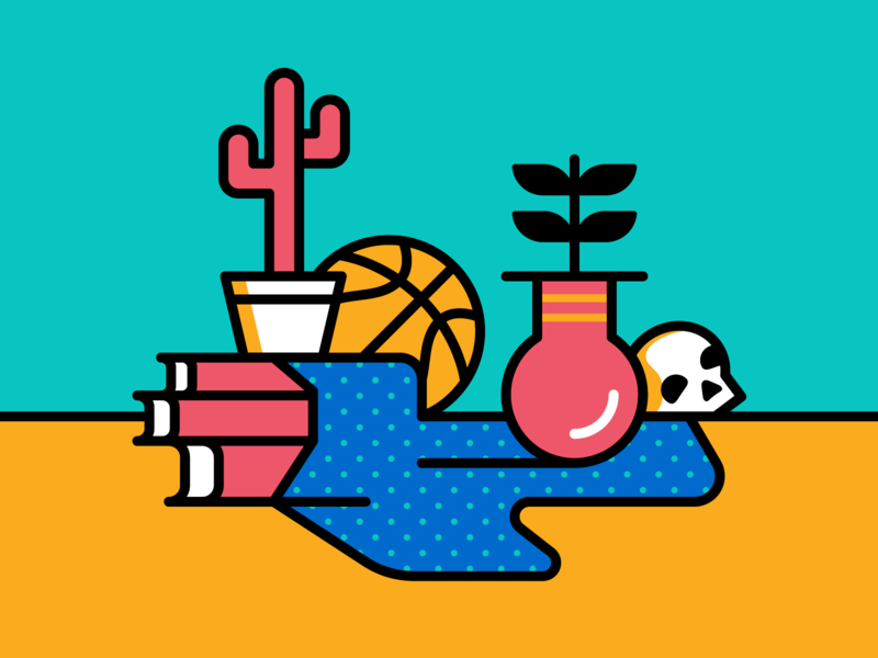 Still Life with Basketball illustration vector still life basketball