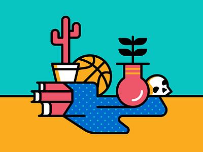 Still Life with Basketball illustration vector still life basketball