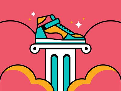 Grails shoes shoe vector illustration basketball