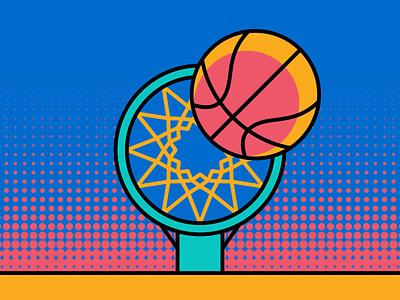 Buzzer Beater march madness illustration basketball nba vector