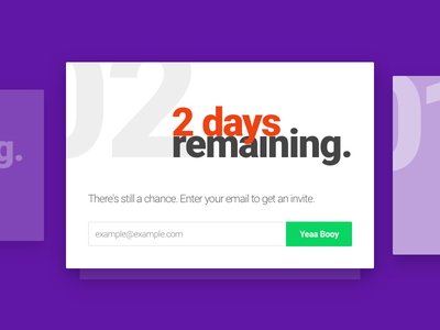 Daily UI - Day 14 | Countdown card interface app countdown design web ux ui day14 dailyui