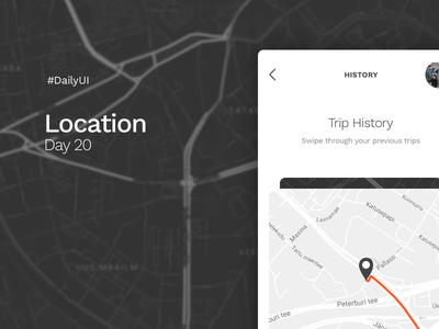Location | DailyUI - Day 20 sketch interface app design web ux ui location marker map day20 dailyui