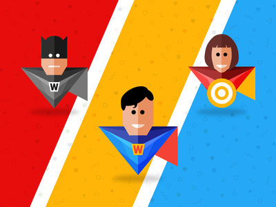 Designers are Superheroes | Free superhero sketch app icons vector ai web ui ux app icon illustration sketch freebie free