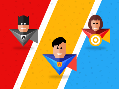 Designers are Superheroes | Free superhero sketch app icons