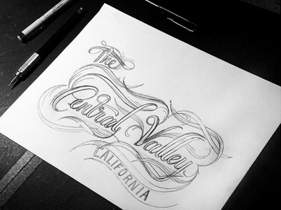 The Central Valley  logotype typography fresno california farm valley lettering