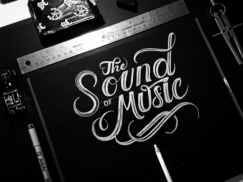 The Sound of Music abcs letters typeface typefaces branding design creative typography lettering