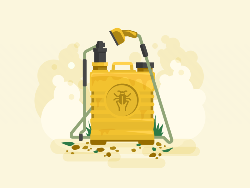 Let's kill some bugs environment agriculture illustration vector art