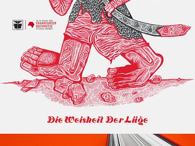 Die Weisheit der Lüge drawing design ink book illustration