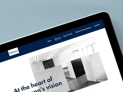 Studio Una: Studio Una: Webdesign Fielmann Ventures brand identity branding typography web website concept webdesigns ui webdesign