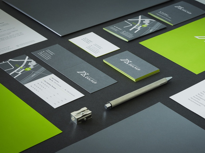 Studio Una: Branding Zahnärzte Zulauf concept typography logo branding and identity spotcolours paper letterpress graphicdesign brand design branding