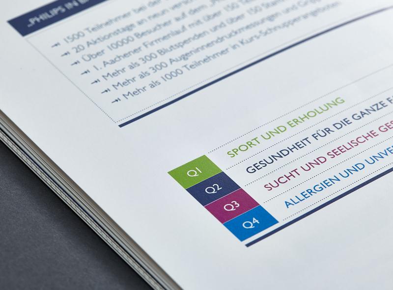 Studio Una: employee magazine for Philips editorial cover design concept illustration infographics design typography editorial design