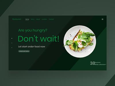 Food design restaurant food green
