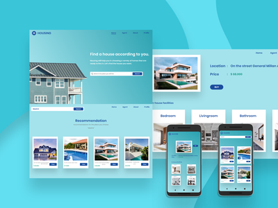 Housing money store application houses uidesign ui  ux phone negotiation house blue white webdesign website web buy now ui app design app design