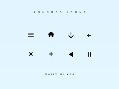 Rounded icons daily UI challenge day 55 icon set icons dailyui challenge dailyui