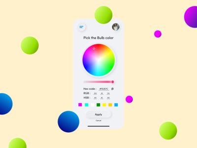 Color Picker Daily UI day 60 smart home app smart home smart bulb app color selector color picker dailyui dailyuichallenge