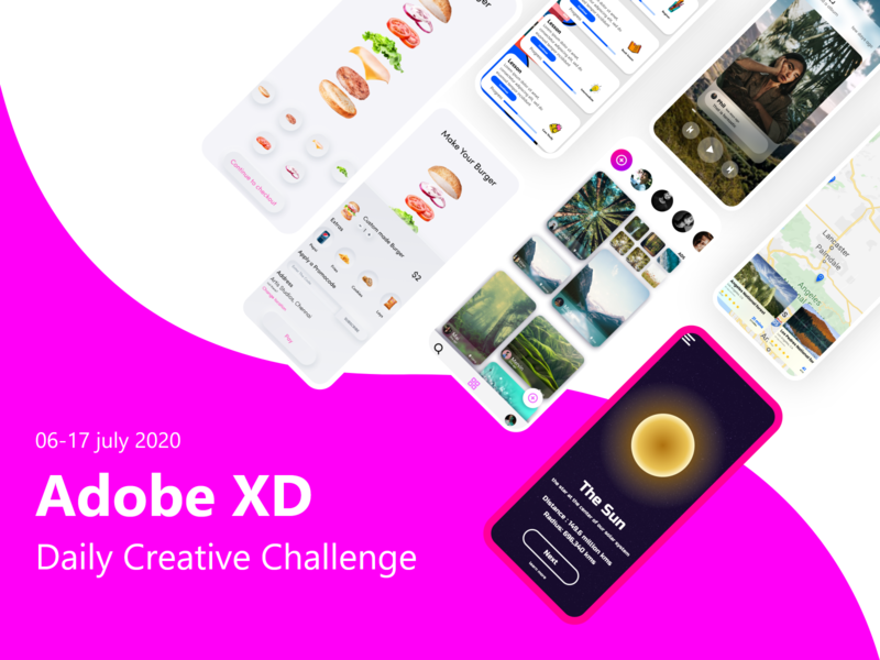 Adobe XD Daily creative challenge July 2020 ui  ux ui adobe xd daily creative challenge
