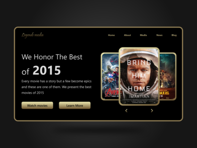 Best of 2015 Daily UI day 63 | Awards Web site Dark UI dark ui website dark ui website dark ui awards website awards best of 2015 dailyuichallenge dailyui