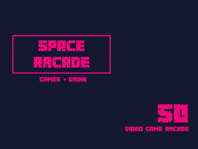 Video Game Arcade Daily logo challenge day 50 video game arcade dailylogodesign dailylogochallenge