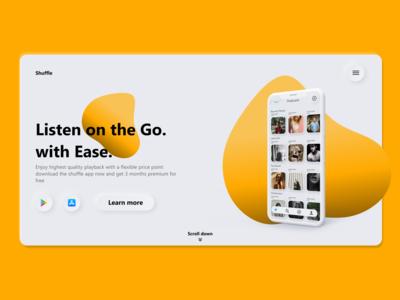 Download App UI design | App landing page Dailyui74 neomorphism webdesign neomorphism webdesign uiux ui mobile app landing page app landing page download app dailyuichallenge dailyui