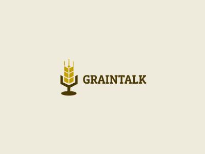 Graintalk agriculture grain wheat logo social discussion farming farm
