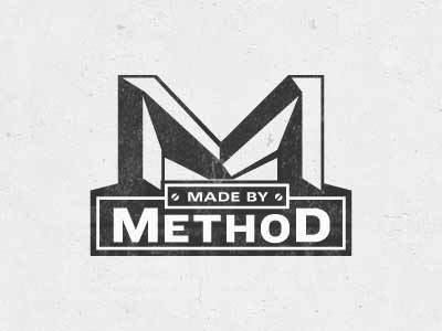 Made by Method heavy vintage embossed reflect method logo mark m developer retro