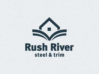 Rush River river steel metal siding house water waves logo roof trim