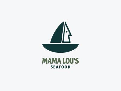 Mama Lou's Seafood restaurant logo design
