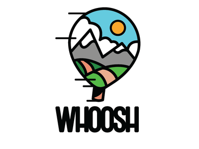 Daily Logo Challange 2/50 WHOOSH/hot air balloon branding illustrator design typography vector logo icon illustration dailylogochallenge