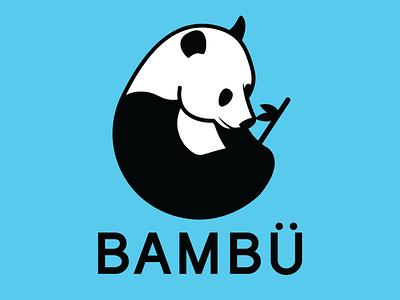 Daily Logo Challange 3/50 BAMBU/Panda panda logo panda design branding illustrator vector logo illustration dailylogochallenge