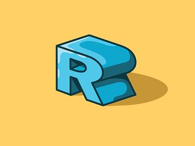 Daily Logo Challange 3/50 R letters r letter typography vector illustration design dailylogochallenge